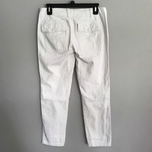 American Eagle Outfitters Pants & Jumpsuits - AEO white utility cropped pants women's size 0